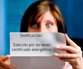 Multas por no tener certificado energetico - Certificadosymas.com